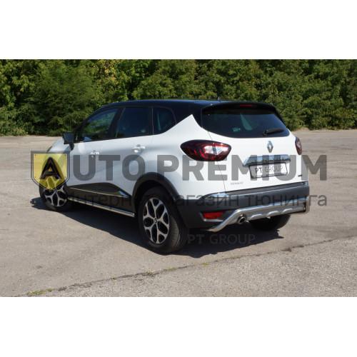 Защита порогов прямая (НПС) Renault KAPTUR с 2016